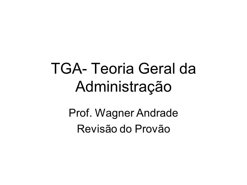 TGA- Teoria Geral da Administração
