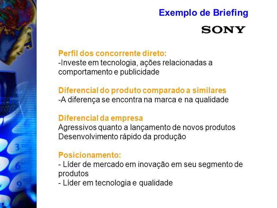 Exemplo de Briefing Perfil dos concorrente direto: