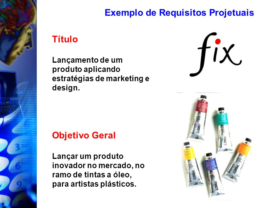 Exemplo de Requisitos Projetuais