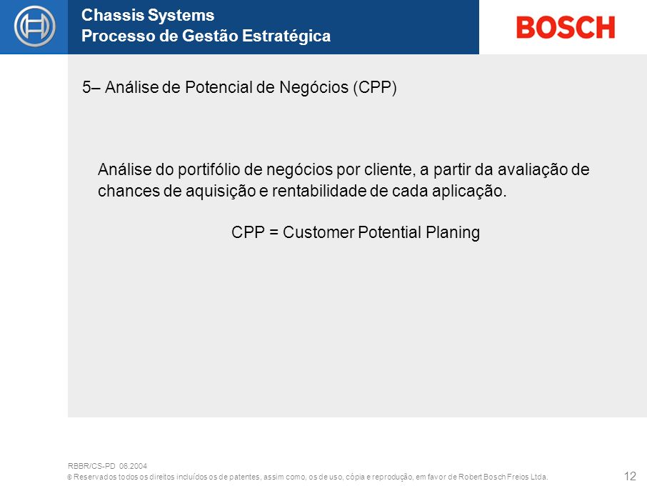 CPP = Customer Potential Planing