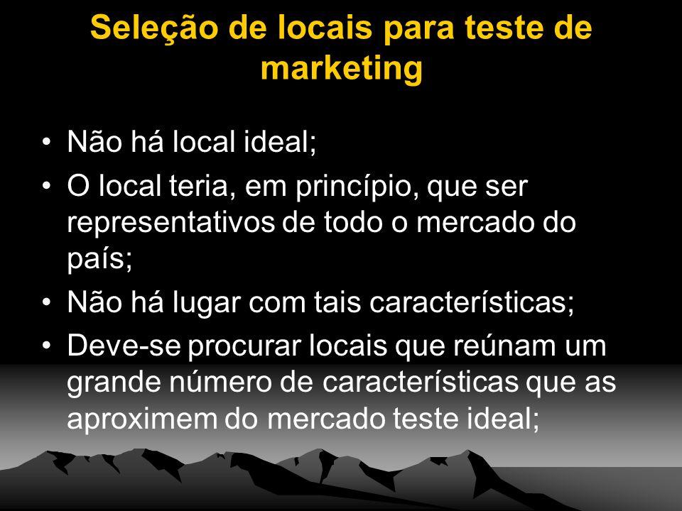Seleção de locais para teste de marketing