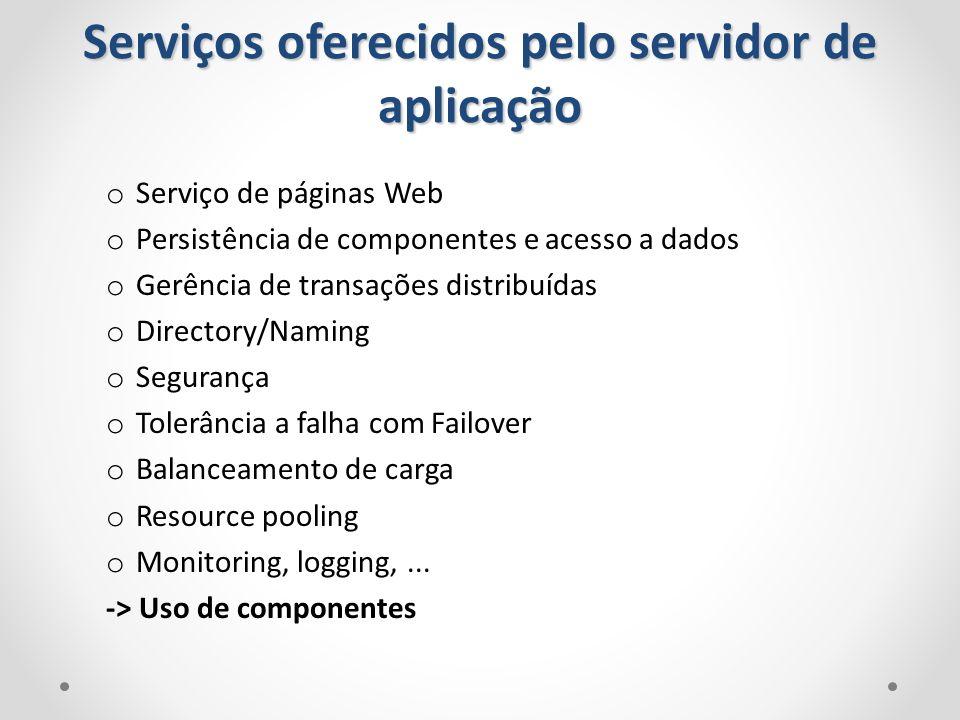 Serviços oferecidos pelo servidor de aplicação