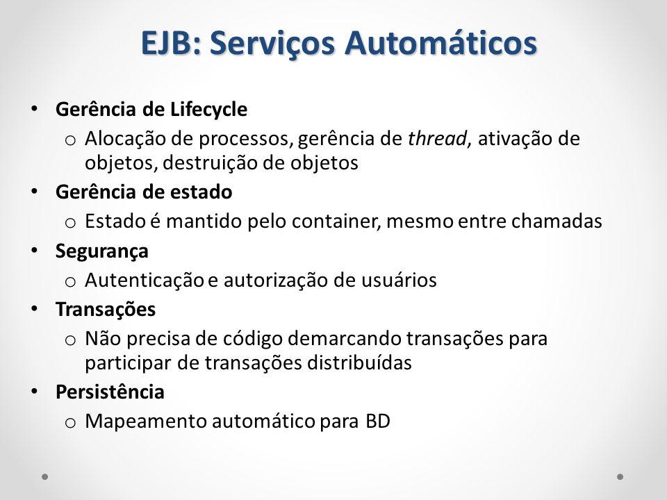 EJB: Serviços Automáticos