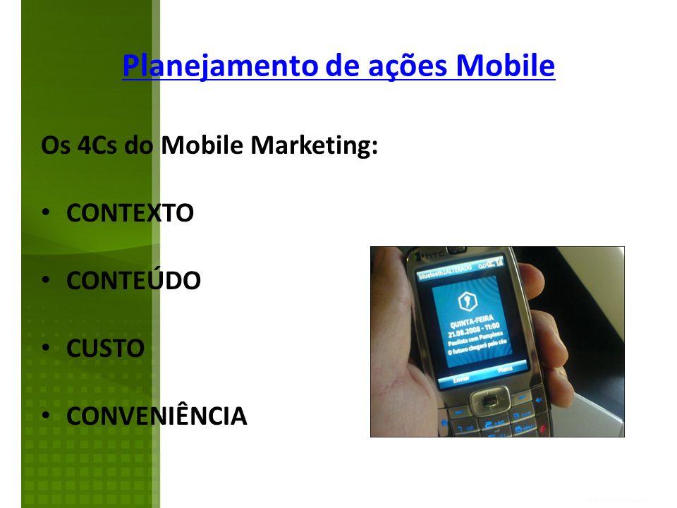 Planejamento de ações Mobile