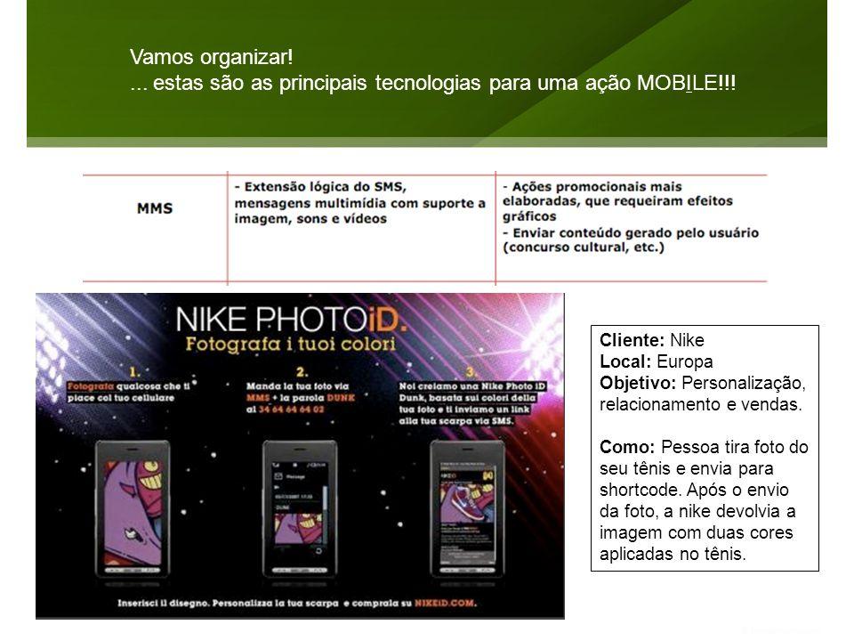 ... estas são as principais tecnologias para uma ação MOBILE!!!
