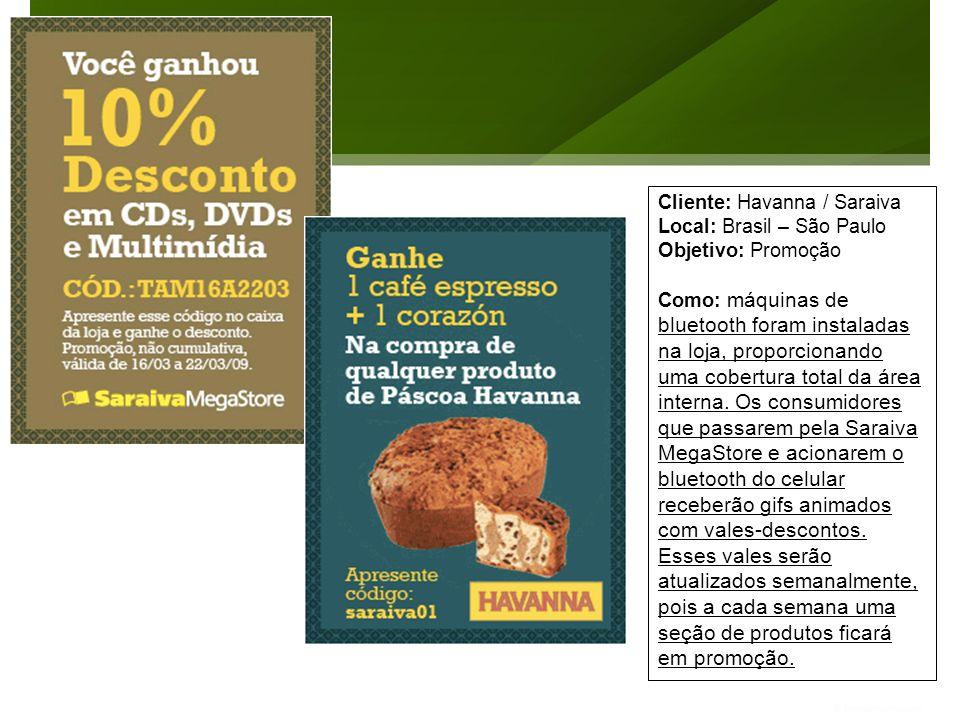 Cliente: Havanna / Saraiva