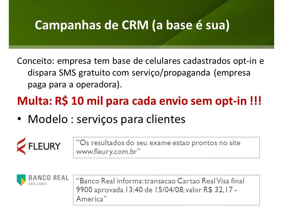 Campanhas de CRM (a base é sua)