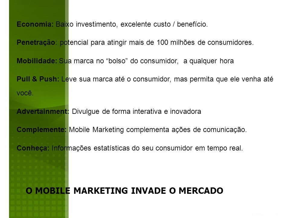 O MOBILE MARKETING INVADE O MERCADO