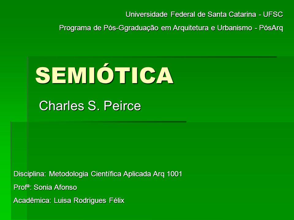 SEMIÓTICA Charles S. Peirce