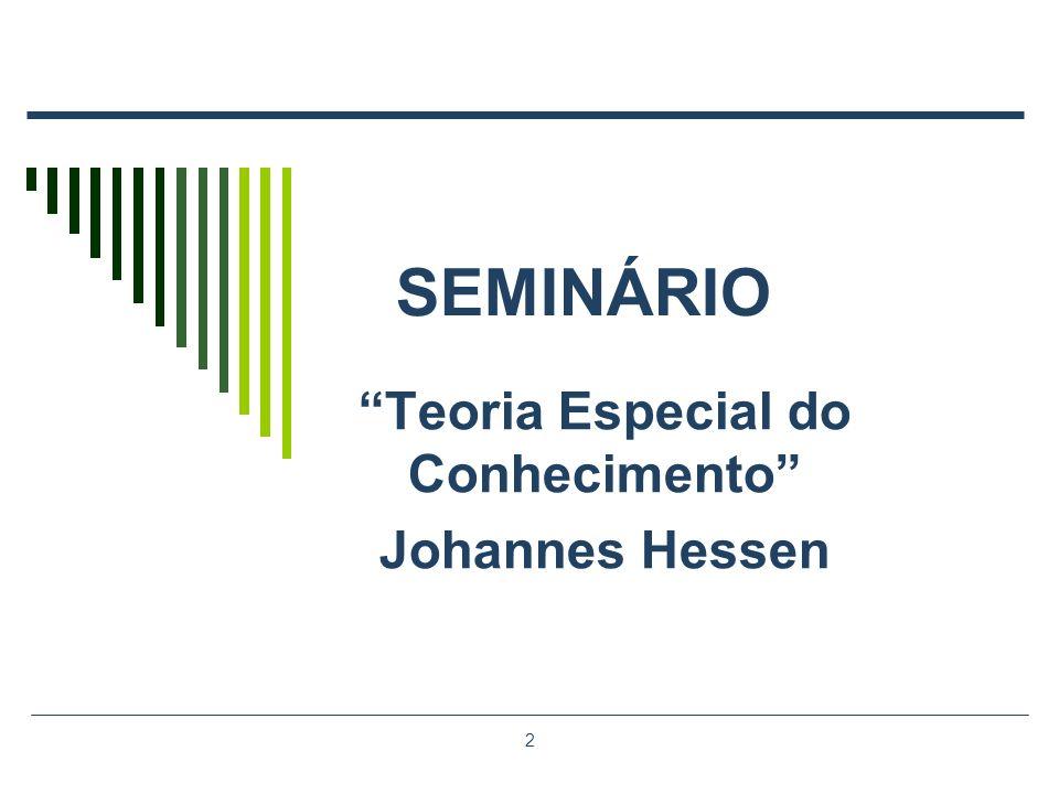 Teoria Especial do Conhecimento Johannes Hessen