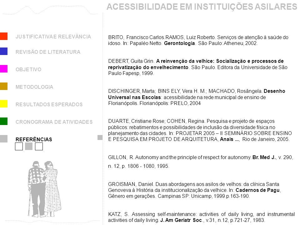 ACESSIBILIDADE EM INSTITUIÇÕES ASILARES