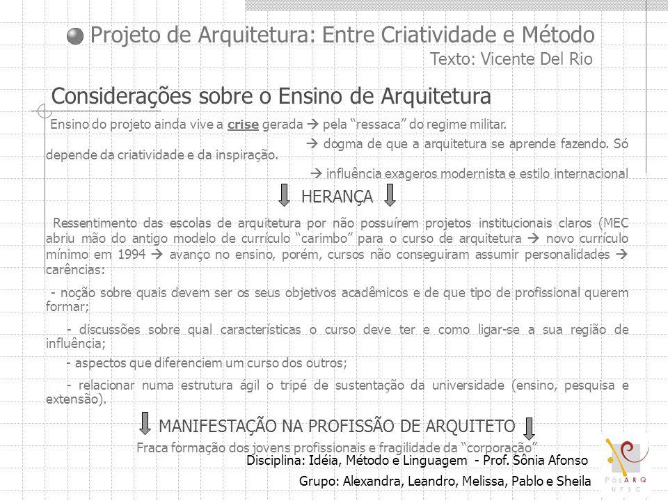 Considerações sobre o Ensino de Arquitetura