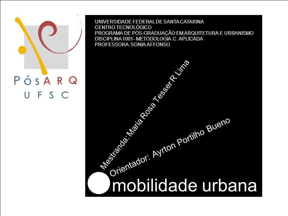 mobilidade urbana Orientador: Ayrton Portilho Bueno