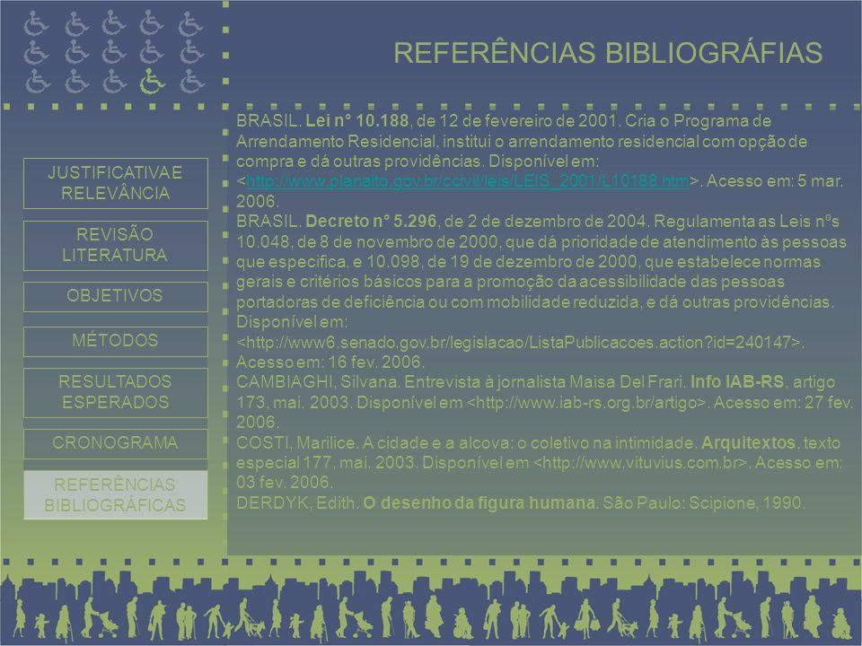 REFERÊNCIAS BIBLIOGRÁFIAS