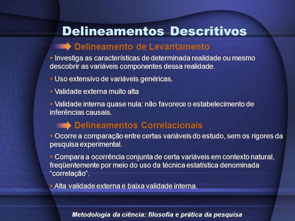 Delineamentos Descritivos