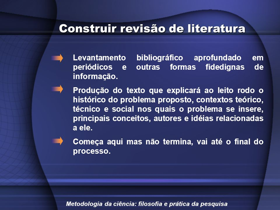 Construir revisão de literatura