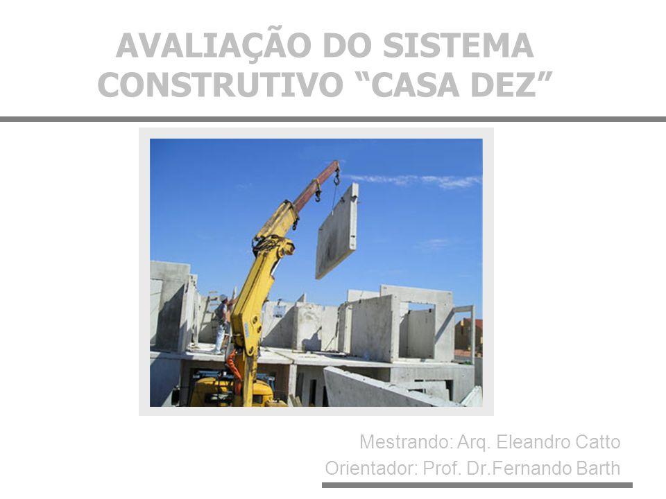 AVALIAÇÃO DO SISTEMA CONSTRUTIVO CASA DEZ