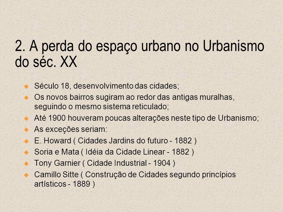 2. A perda do espaço urbano no Urbanismo do séc. XX