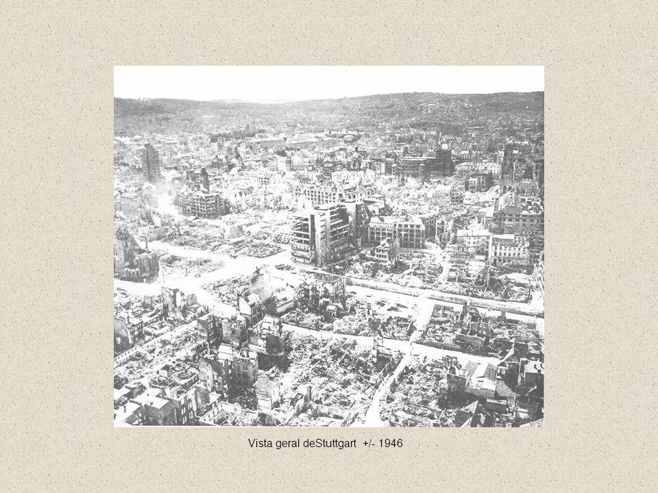 Vista geral deStuttgart +/- 1946