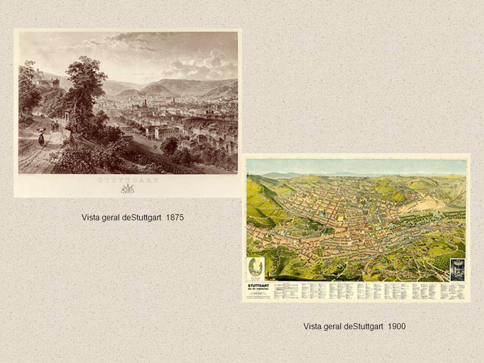 Vista geral deStuttgart 1875