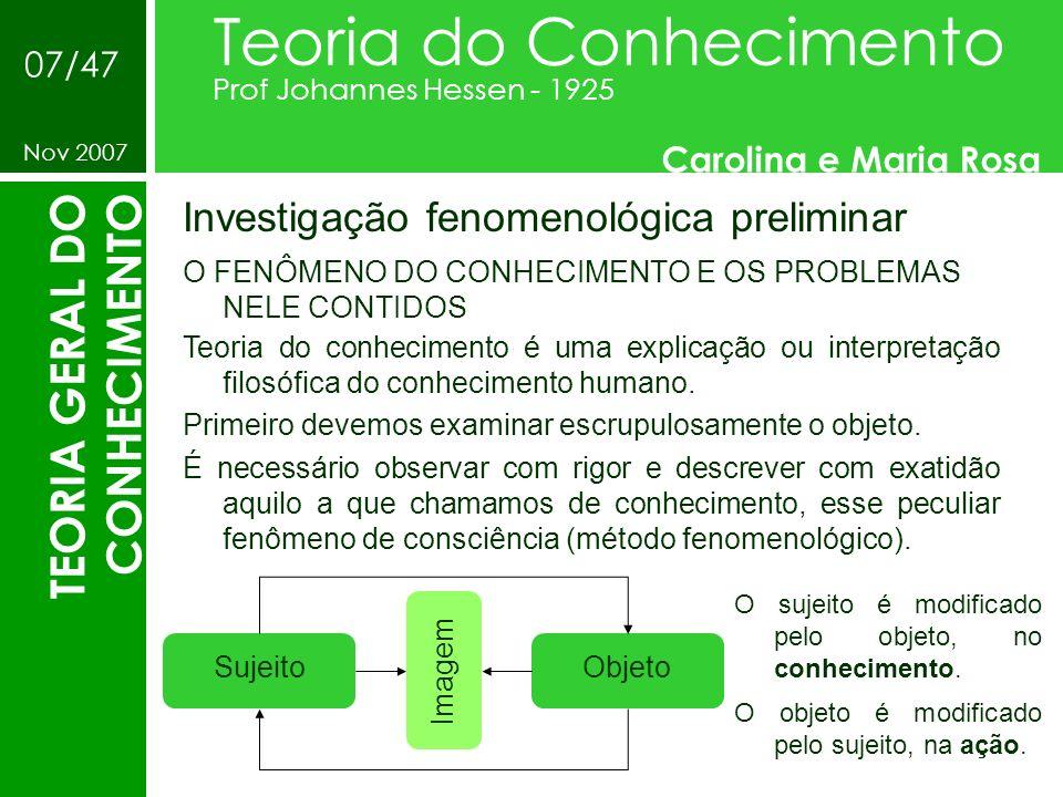 Teoria do Conhecimento