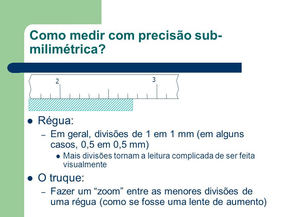 Como medir com precisão sub-milimétrica