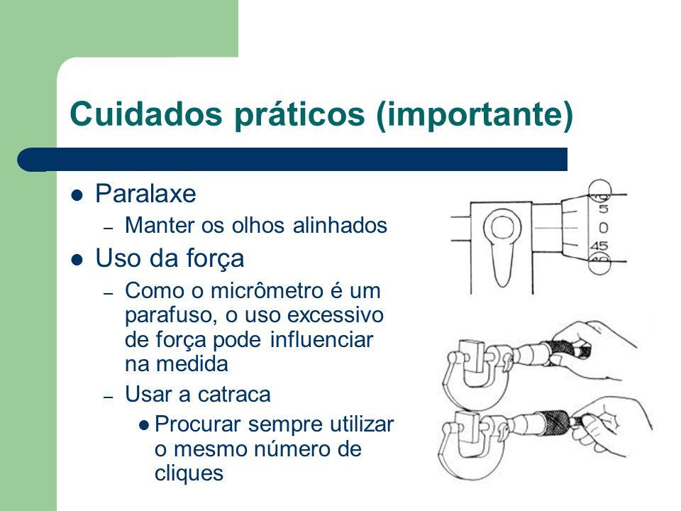 Cuidados práticos (importante)