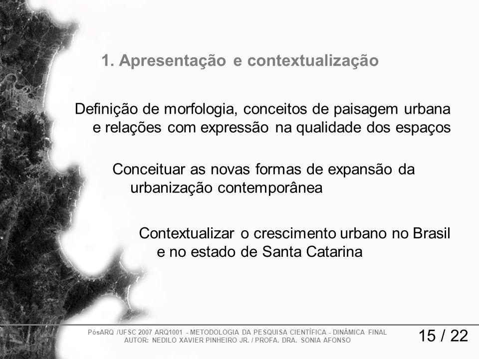 1. Apresentação e contextualização