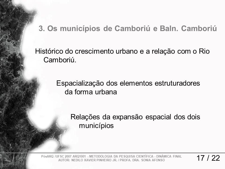3. Os municípios de Camboriú e Baln. Camboriú