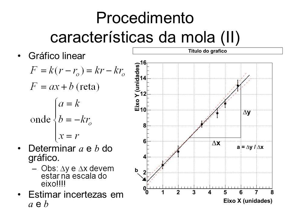 Procedimento características da mola (II)