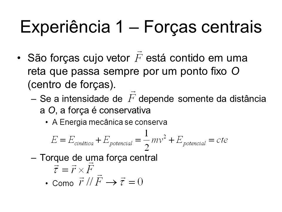 Experiência 1 – Forças centrais