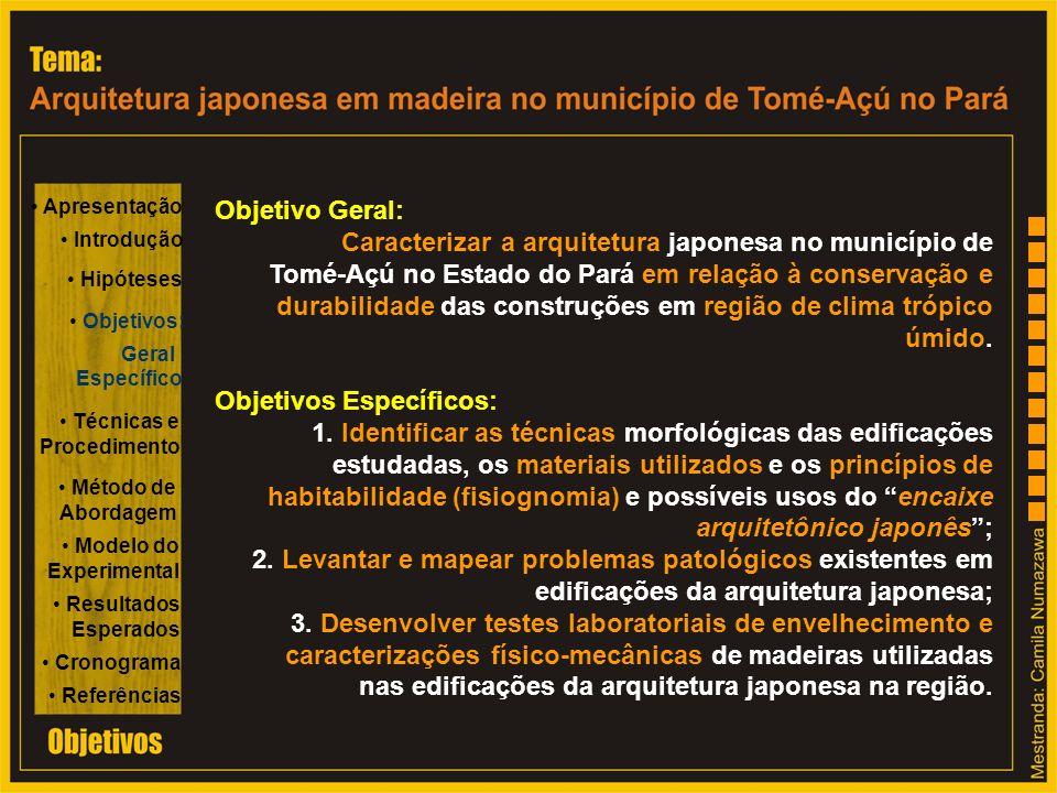 Caracterizar a arquitetura japonesa no município de