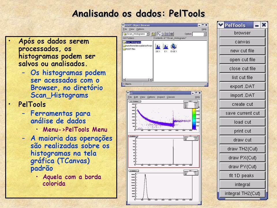 Analisando os dados: PelTools