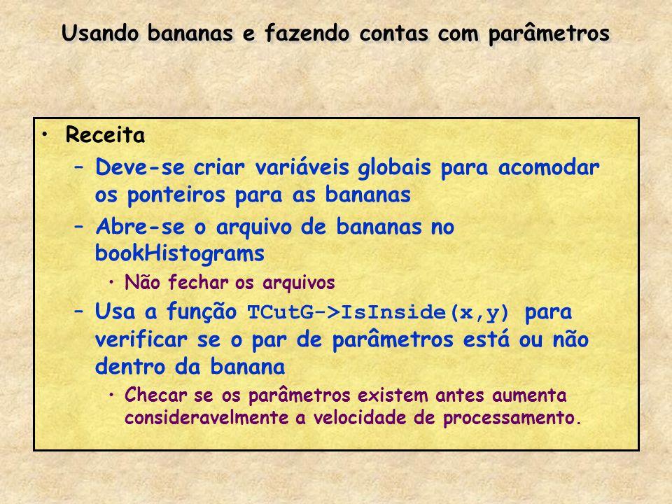 Usando bananas e fazendo contas com parâmetros