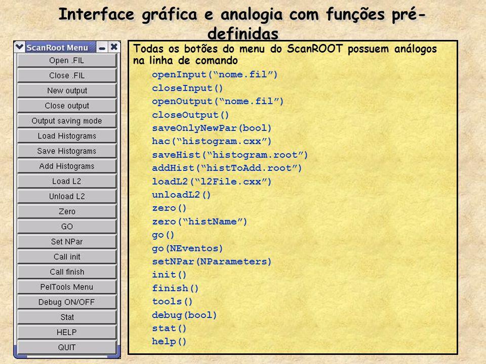 Interface gráfica e analogia com funções pré-definidas