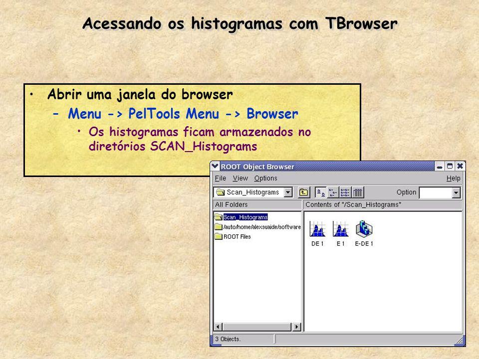 Acessando os histogramas com TBrowser