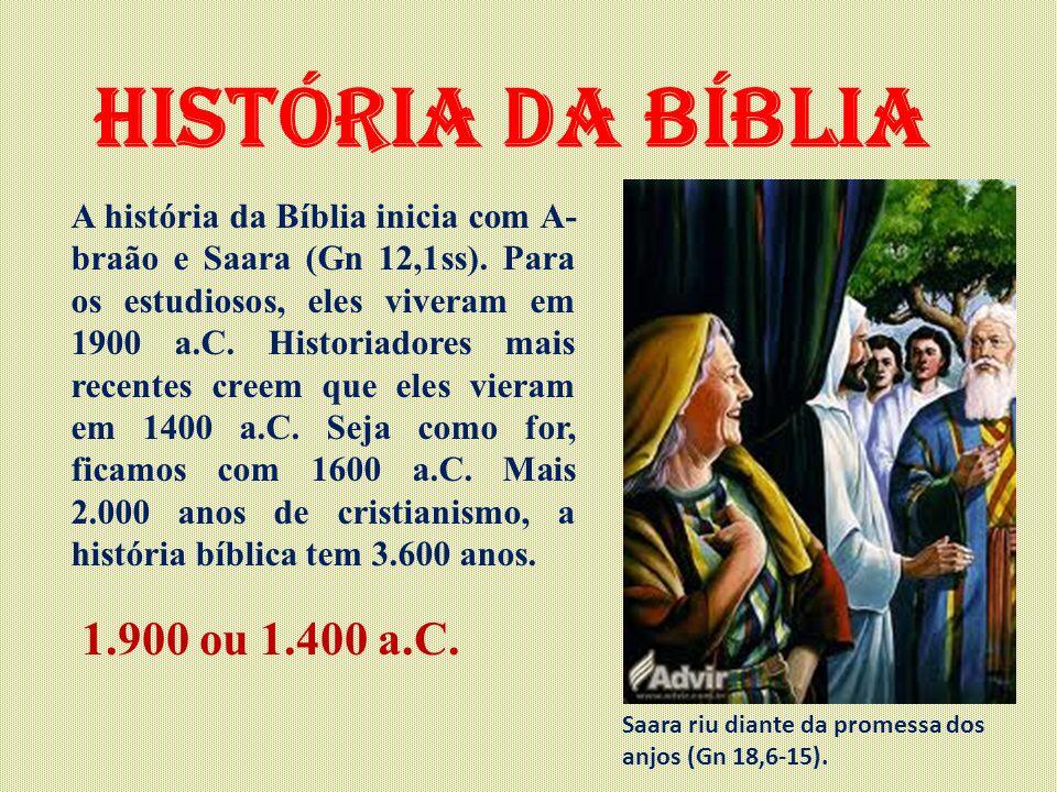 História da Bíblia 1.900 ou 1.400 a.C.
