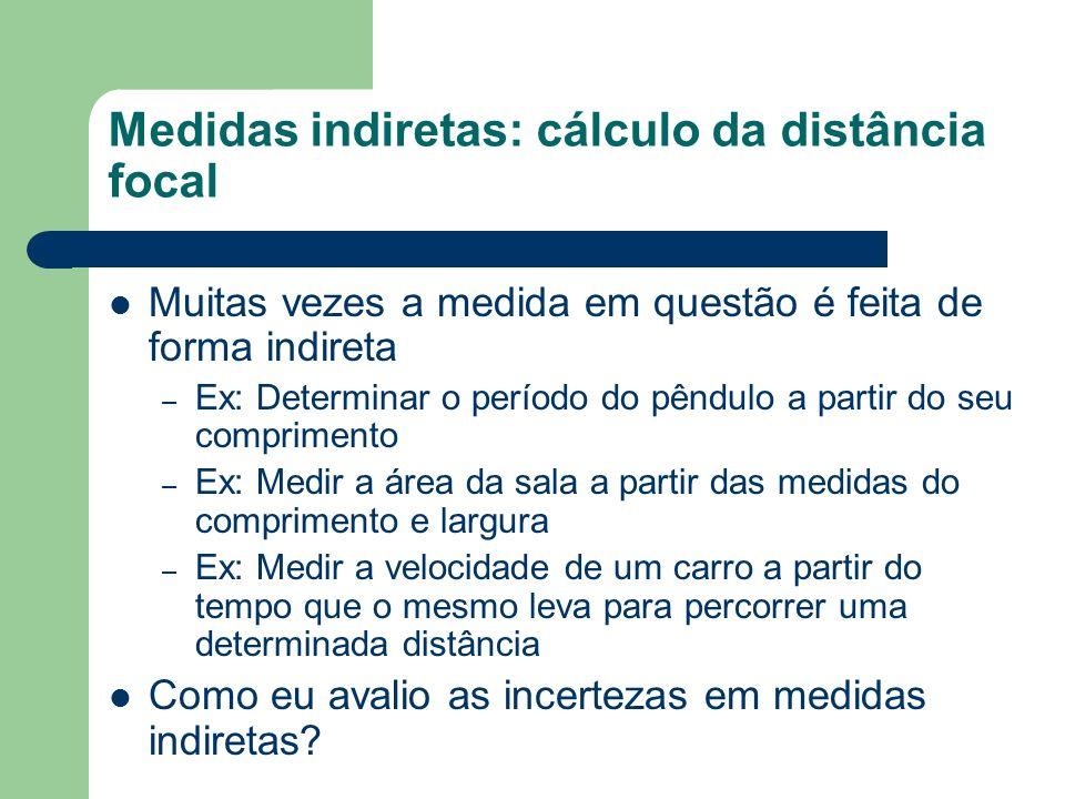 Medidas indiretas: cálculo da distância focal