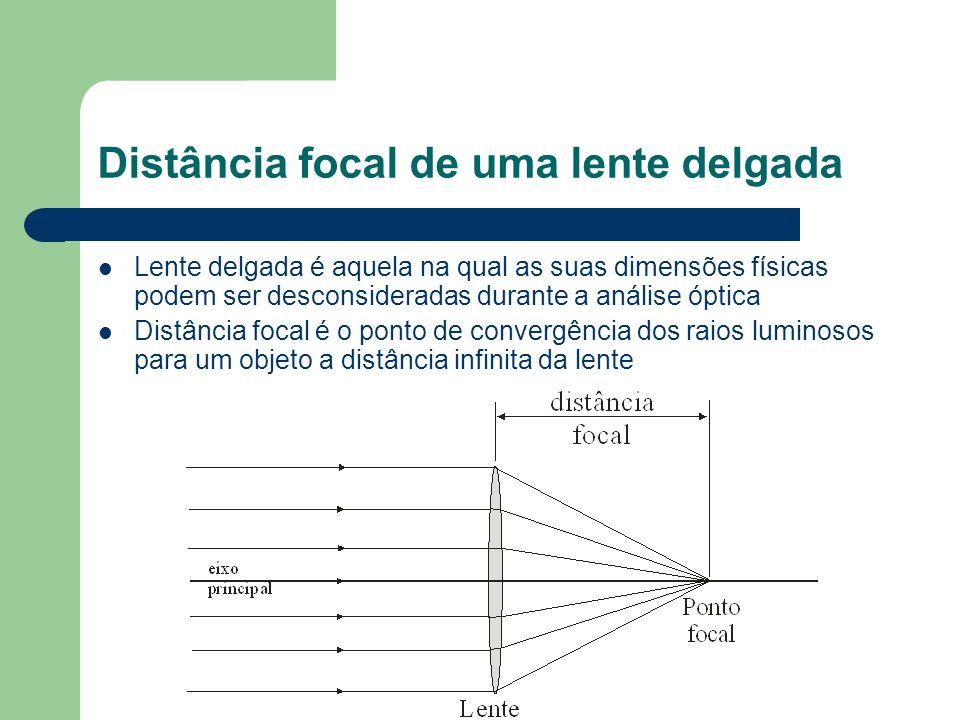 Distância focal de uma lente delgada