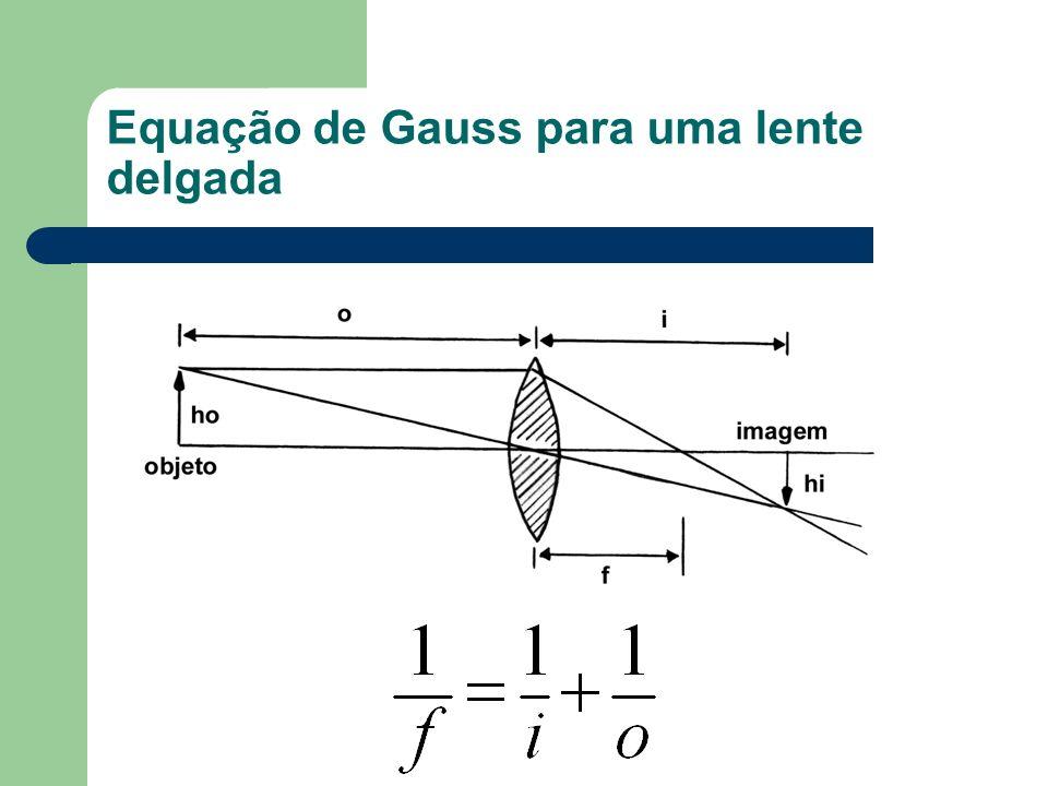 Equação de Gauss para uma lente delgada