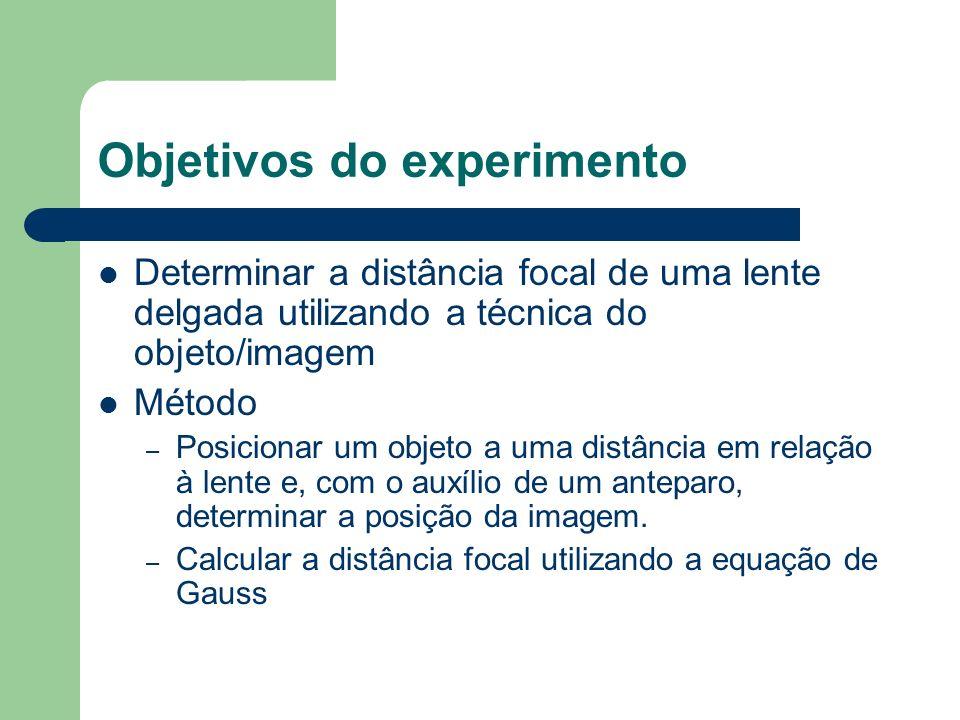 Objetivos do experimento