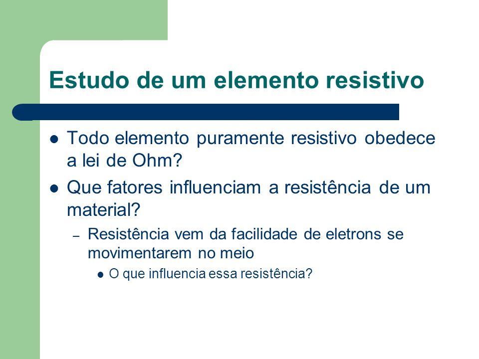 Estudo de um elemento resistivo