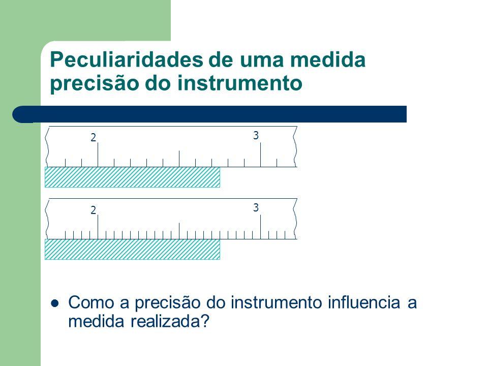 Peculiaridades de uma medida precisão do instrumento