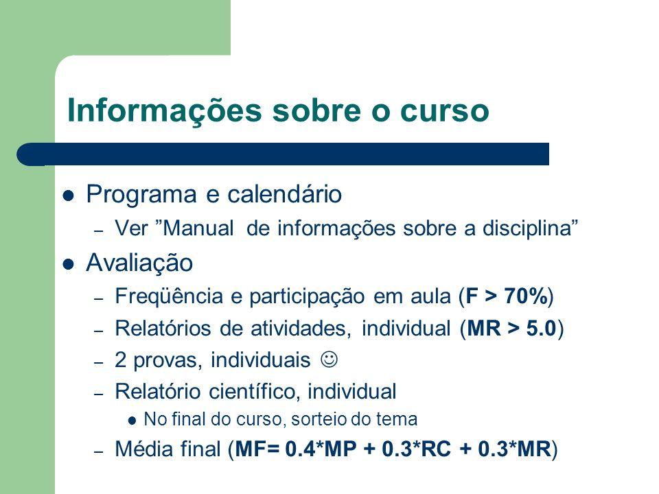 Informações sobre o curso