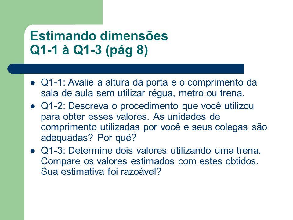 Estimando dimensões Q1-1 à Q1-3 (pág 8)