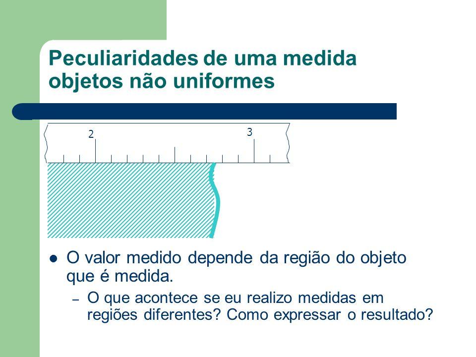 Peculiaridades de uma medida objetos não uniformes