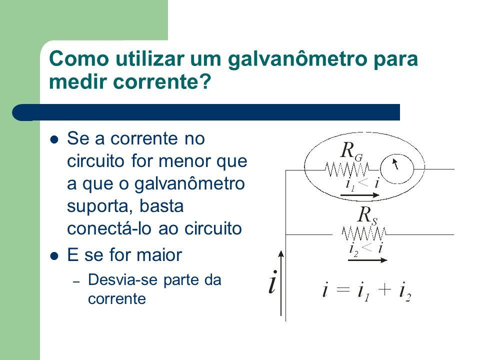 Como utilizar um galvanômetro para medir corrente