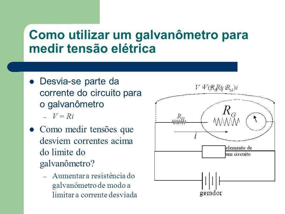 Como utilizar um galvanômetro para medir tensão elétrica