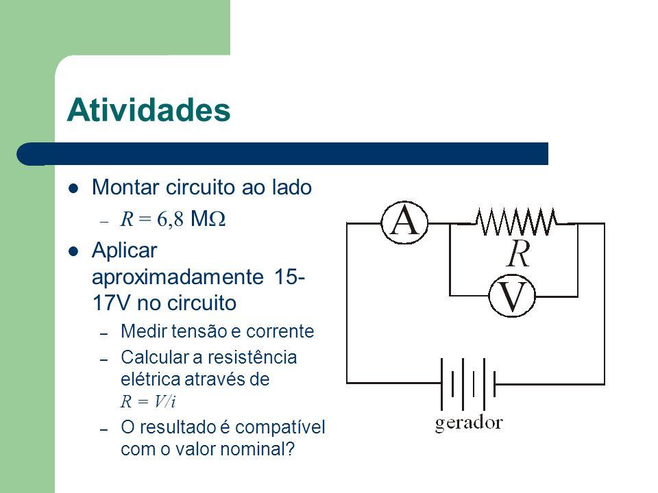 Atividades Montar circuito ao lado R = 6,8 MW