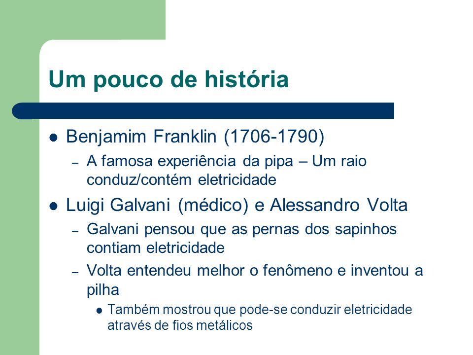 Um pouco de história Benjamim Franklin (1706-1790)